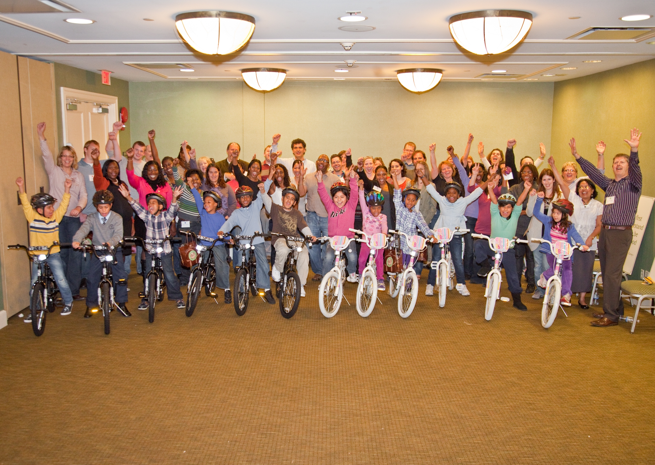 Regeneron Builds team and bikes for kids